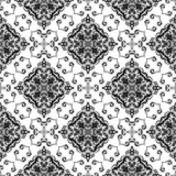 Orient Seamless Vector Pattern. Abstract. Oriental vector pattern with damask, arabesque and floral elements. Seamless abstract background. Black and white Royalty Free Stock Photos