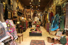 Orient shop. Customers in Orient market (Turkey Royalty Free Stock Photography