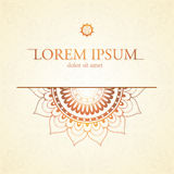 Orient style card Royalty Free Stock Photography