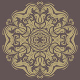 Orient vector ornamental round lace Stock Images
