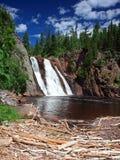 Orientação do vertical da cachoeira de Tettegouche Foto de Stock Royalty Free