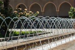 Orientała ogród - sąd morrocan dom Fotografia Royalty Free