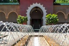 Orientała ogród - sąd morrocan dom Obraz Royalty Free