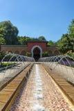 Orientała ogród - sąd morrocan dom Zdjęcia Stock