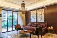 Orientała stylowy luksusowy żywy pokój Zdjęcia Stock