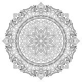 Orientała stylowy mandala, hindusa wzór, wektorowa ilustracja ilustracja wektor