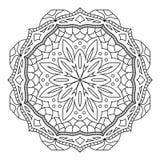 Orientała stylowy mandala, hindusa wzór, wektorowa ilustracja ilustracji