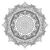 Orientała stylowy mandala, hindusa wzór, wektorowa ilustracja royalty ilustracja