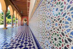 Orientał deseniowa mozaika - Morocco architektura Fotografia Stock