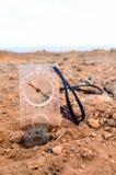 Orientaci pojęcia metalu kompas Fotografia Royalty Free