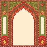 Oriental орнаментированный предпосылкой сделал по образцу изображение в форме свода Стоковое Изображение