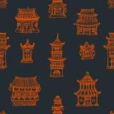 Oriental расквартировывает безшовную картину Стоковое фото RF