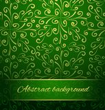 Oriental abstract background in green and gold. Stock Photo