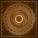 Oriental abstract pattern of gold Stock Images