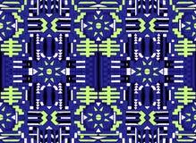 oriental abstrakcjonistyczny wzór Tkanina farbował z India atramentem Indonesi royalty ilustracja