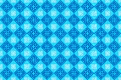 Oriental Arabian Geometric Ornamental Tile in Soft Blue Color Background Wallpaper stock illustration
