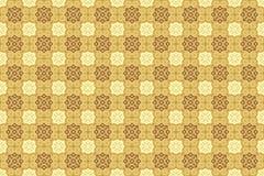 Oriental Arabian Ornamental in Brown Cappuccino Soft Cream Color Wallpaper stock illustration