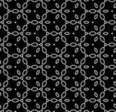 Oriental arabian seamless pattern, vector. Vector monochrome seamless pattern, repeat ornamental background, geometric tiles, oriental arabian style, black & Stock Image