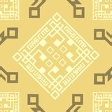 Oriental, Arabic, Islamic, Ornament, Coffee Brown Seamless Pattern Tile Texture Background. Vector Eid Ramadan. stock illustration