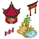 Oriental architecture elements for locations Stock Photo