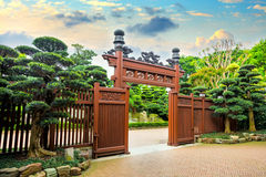 Oriental architecture, Enrtance of the park Stock Photo