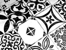 Oriental Black and White Pattern stock image