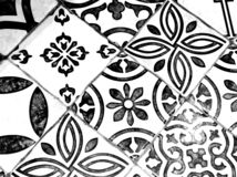 Oriental Black and White Pattern royalty free stock photo