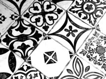 Oriental Black and White Pattern stock photo