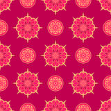 Oriental asian pattern with round elements Stock Image