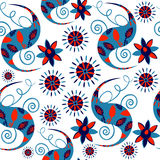 Oriental asian seamless pattern  Paisley and seamless pattern in Royalty Free Stock Photography
