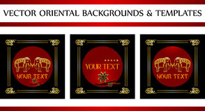 Oriental backgrounds and templates royalty free illustration