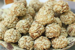 Oriental balls with nuts Royalty Free Stock Image