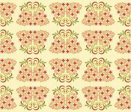 Oriental bamboo Pattern. A decoration inspired from Chinese bamboo decorated with leaf and flowers stock illustration