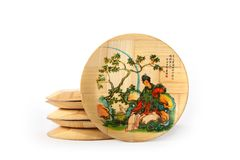 Oriental Bamboo Plates Royalty Free Stock Images