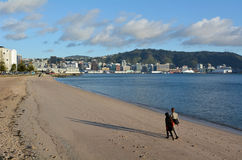 Oriental bay in Wellington New Zealand Stock Images