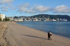 Oriental bay in Wellington New Zealand Stock Images