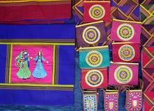 Oriental bazaar objects - ketene fabrics Stock Photos