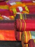 Oriental bazaar objects - ketene & jorap socks. Ketene fabrics and jorap woolen socks on the background.  Traditional objects at the biggest oriental bazaar Royalty Free Stock Photo