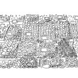 Oriental bazaar, sketch for your design Royalty Free Stock Photography