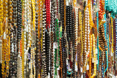 Oriental beads in the bazaar Royalty Free Stock Photos