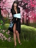 Oriental beauty with kimono Stock Image