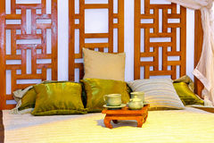 Oriental bed Stock Photo