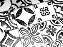 Oriental Black and White Pattern royalty free stock photography