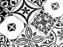 Oriental Black and White Pattern royalty free stock image