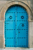 Oriental blue door Royalty Free Stock Photo