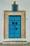 Oriental blue door Royalty Free Stock Images