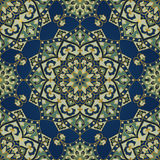 Oriental blue and green ornament. Royalty Free Stock Images