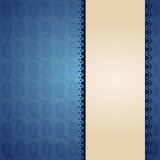 Oriental blue paisley banner design Stock Image