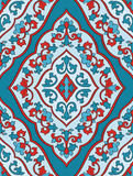 Oriental blue and red ornament. Stock Photos