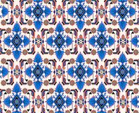 Oriental blue white carpet vector Royalty Free Stock Photography